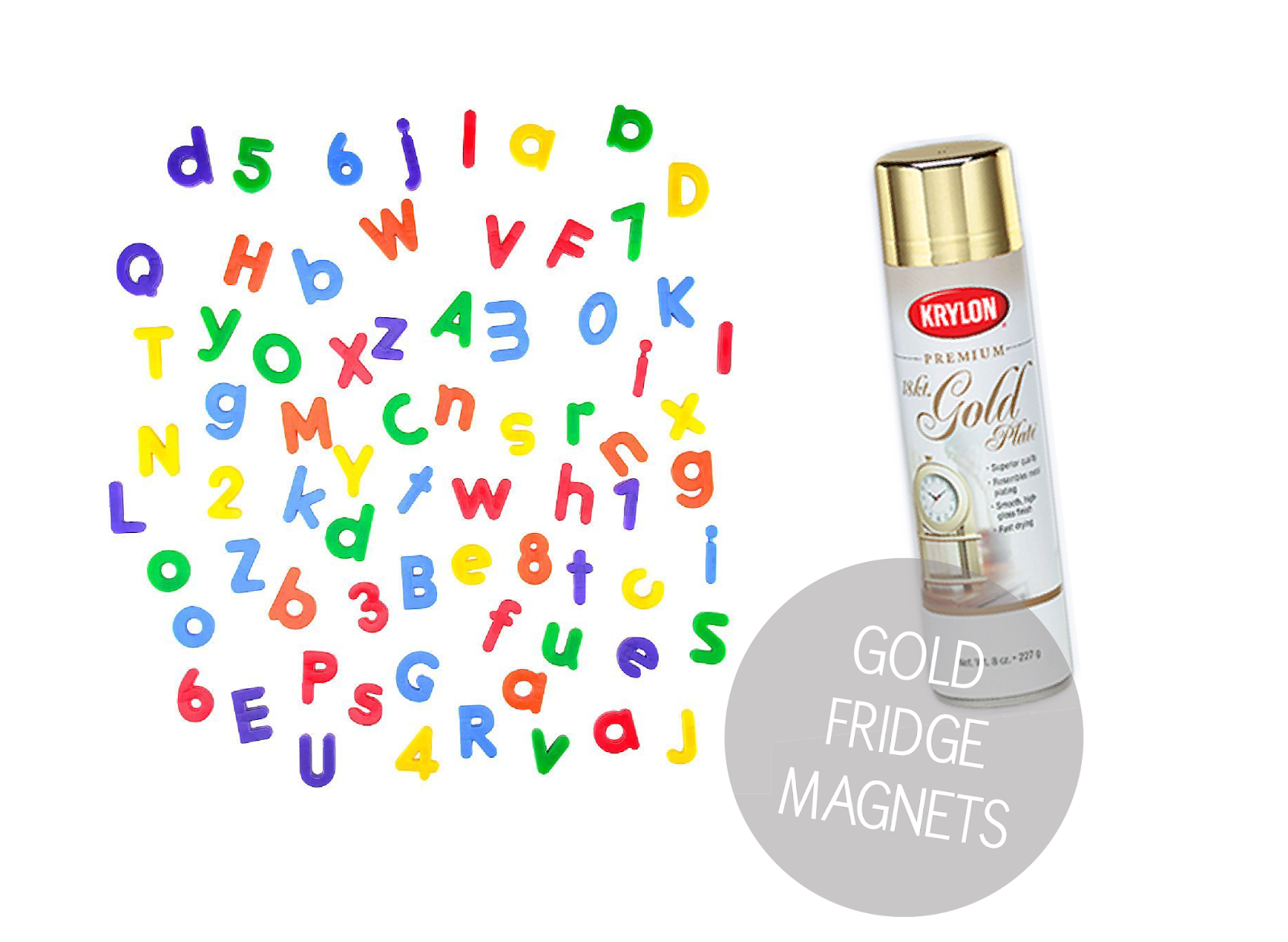 Magnetic Alphabet Letters And Numbers For Fridge