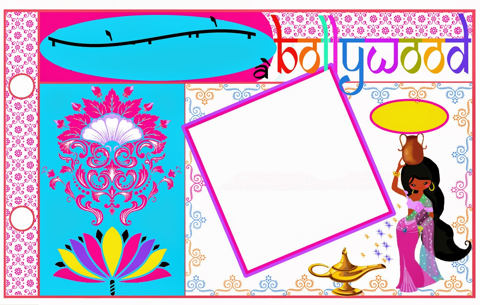 Bollywood: Free Printable Photo Album. | Is it for PARTIES? Is it ...