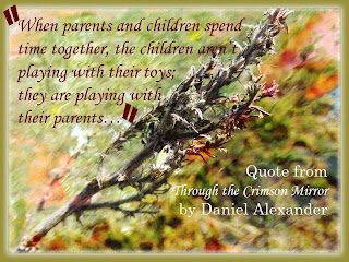 When parents and children spend time together, the children aren't playing with their toys; they are playing with their parents…