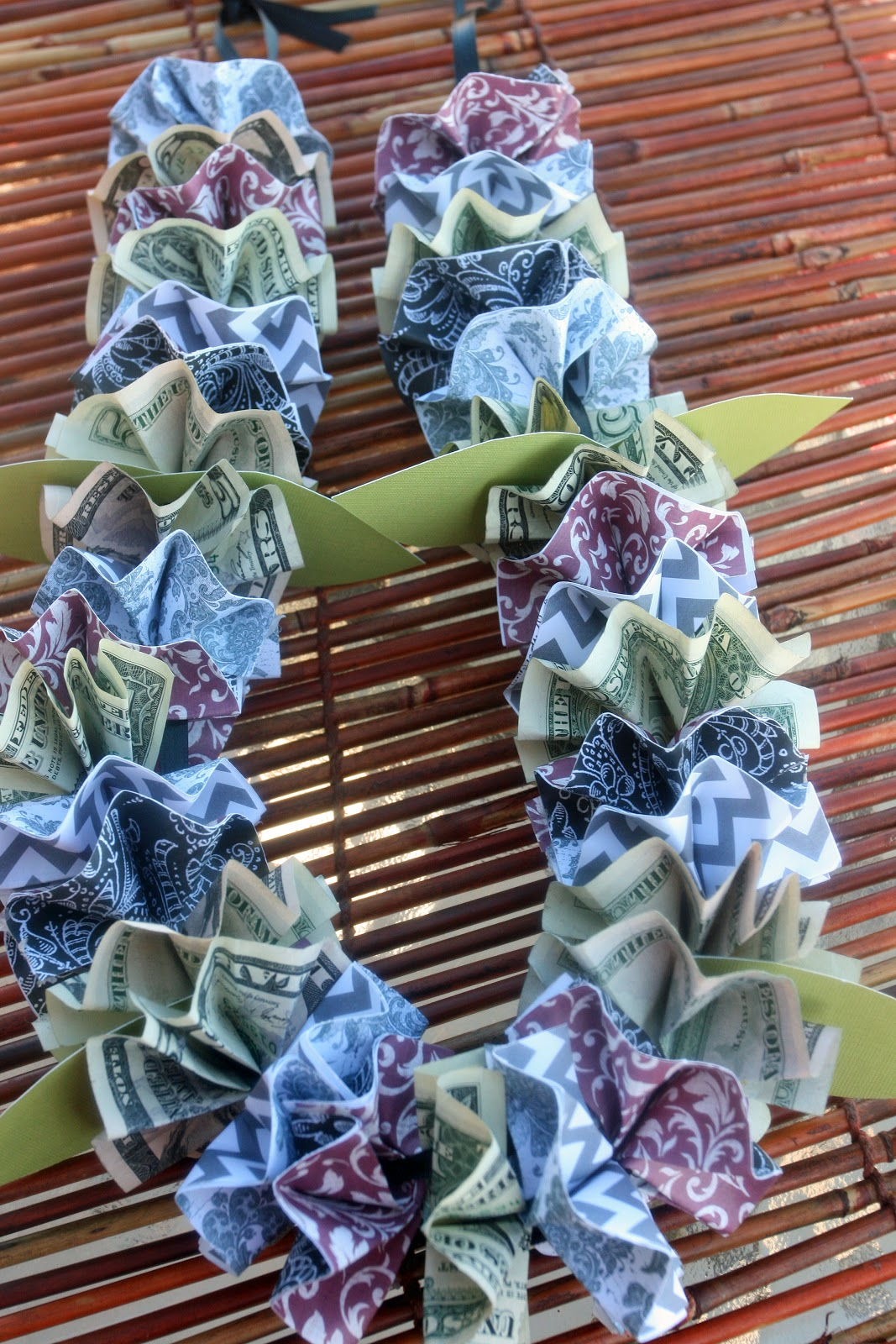 Adventures of a busybee money and paper lei tutorial for Diy to make money