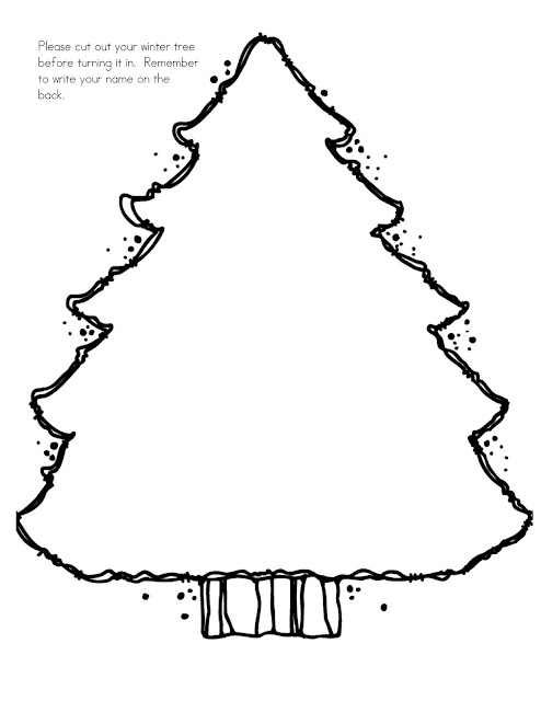 Plain christmas tree colouring pages for Plain christmas tree coloring page