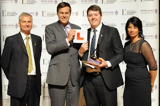 Peter Jones of Dragons' Den presents award