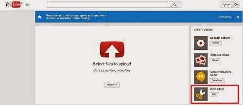 Cara upload dan edit video youtube