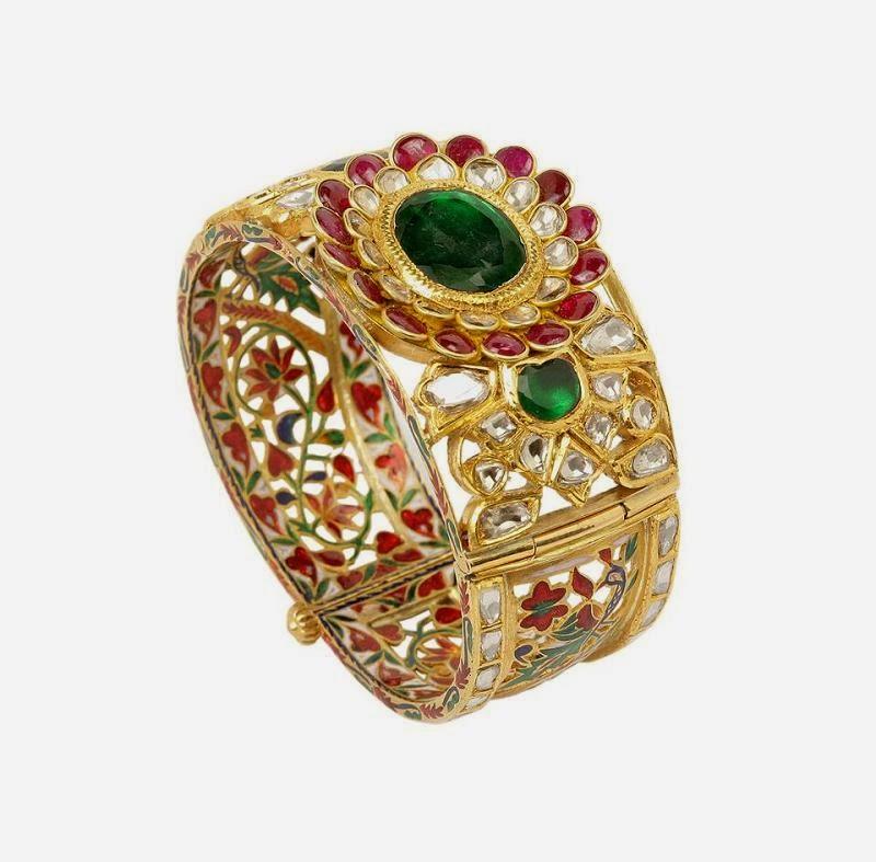 Indian Jewellery Designs: Stunning diamond kada