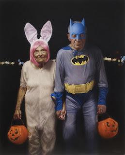 Abuelitos Superheroes Pintura Hiperrealista