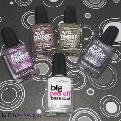 Sally Hansen Insta-Ombre & Big Peel Off Base Coat | Kat Stays Polished
