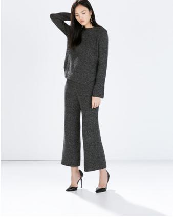 Imagen de mujer con look de Zara Invierno 2014