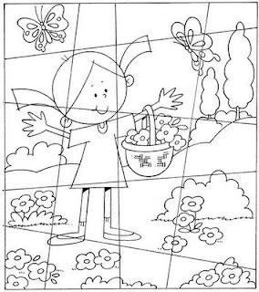 pintar, imprimir e colorir Desenhos de Quebra-Cabeça
