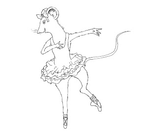 #8 Angelina Ballerina Coloring Page