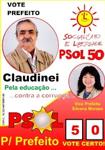 Programa Oficial Claudinei Prefeito Vice Silvana Moraes