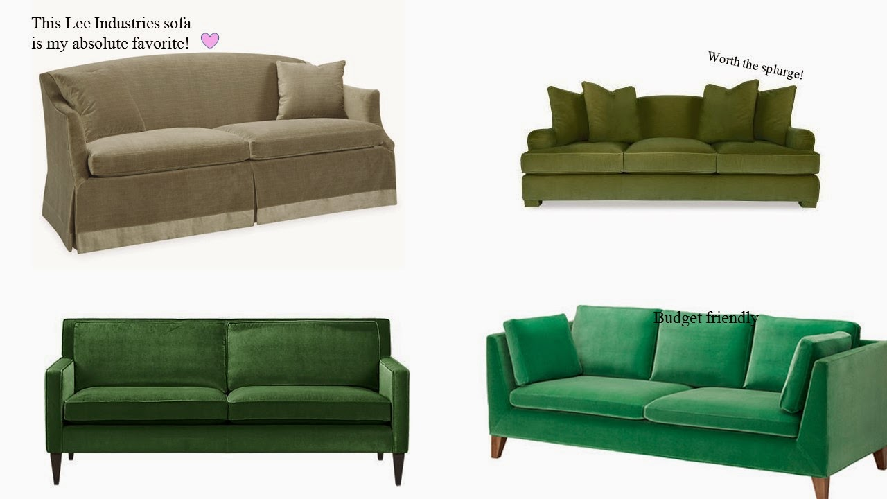 the long and short of it the green velvet sofa. Black Bedroom Furniture Sets. Home Design Ideas