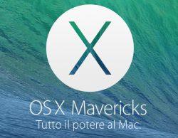 aggiornare il MAC a OSX Mavericks