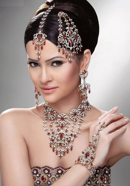 Bridal Makeup Online : FASHION FOR LADIES: indian bridal with jewellery and make up