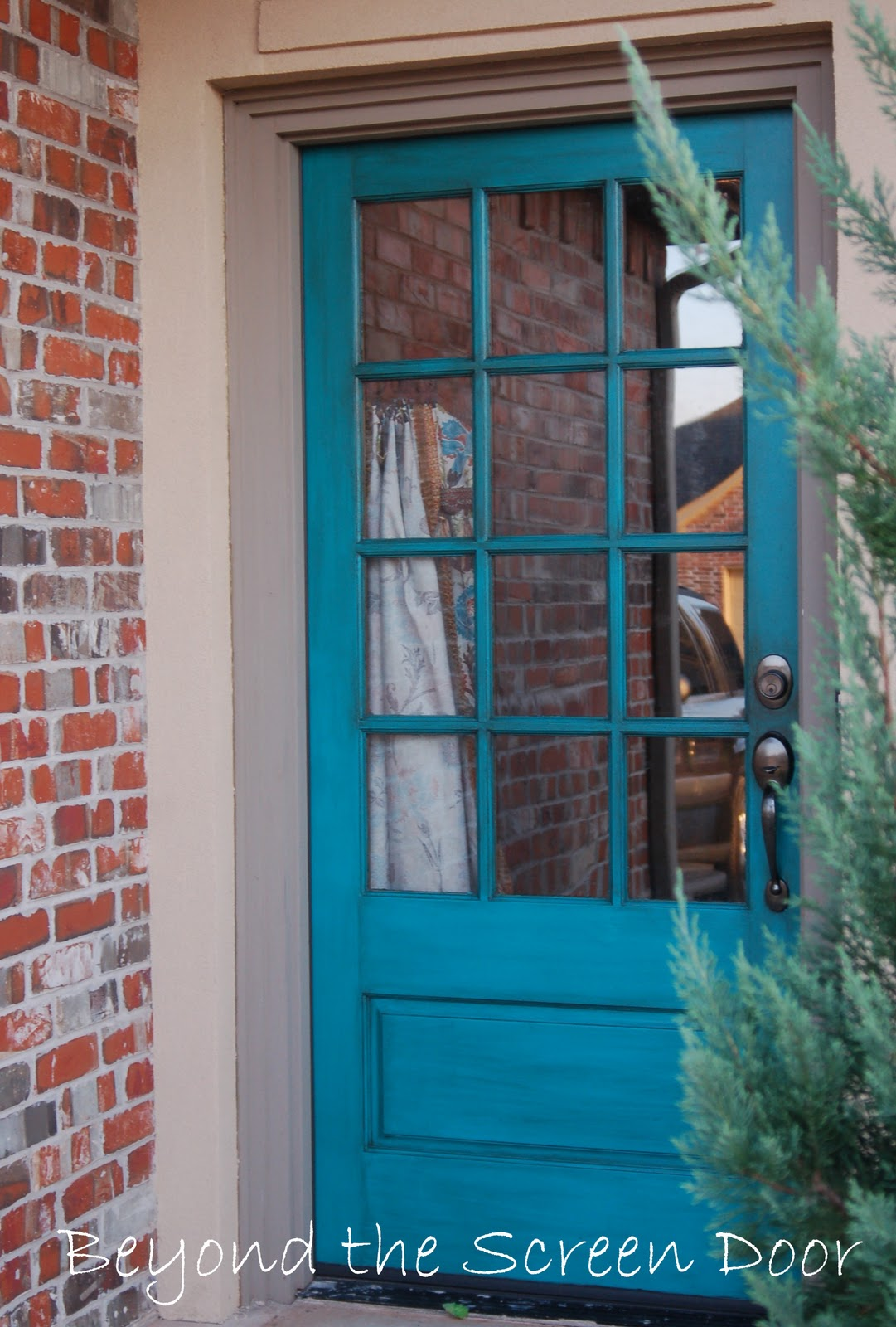 More turquoise front doors sonya hamilton designs for Screened front entry