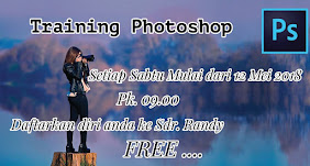 Training Photoshop, Sabtu 12 Mei 2018 Jam 09.00 WIB
