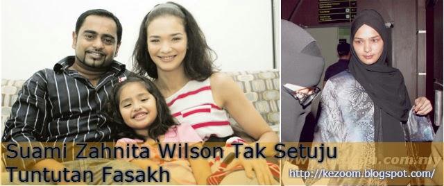 Suami Zahnita Wilson Tak Setuju Tuntutan Fasakh