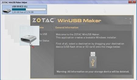 ZOTAC WinUSB Maker v1.0: Tạo USB cài đặt Windows 7/8 trong 2 bước