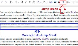 Jump Break, resumo Continue Lendo