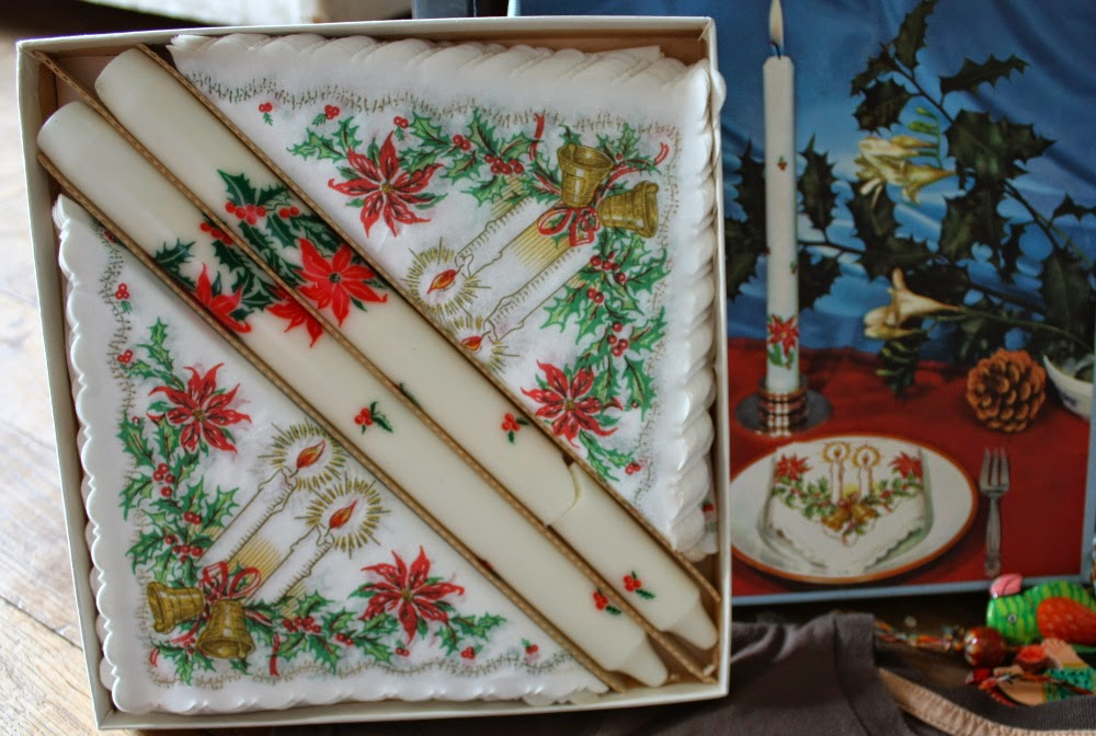 vintage Christmas napkins