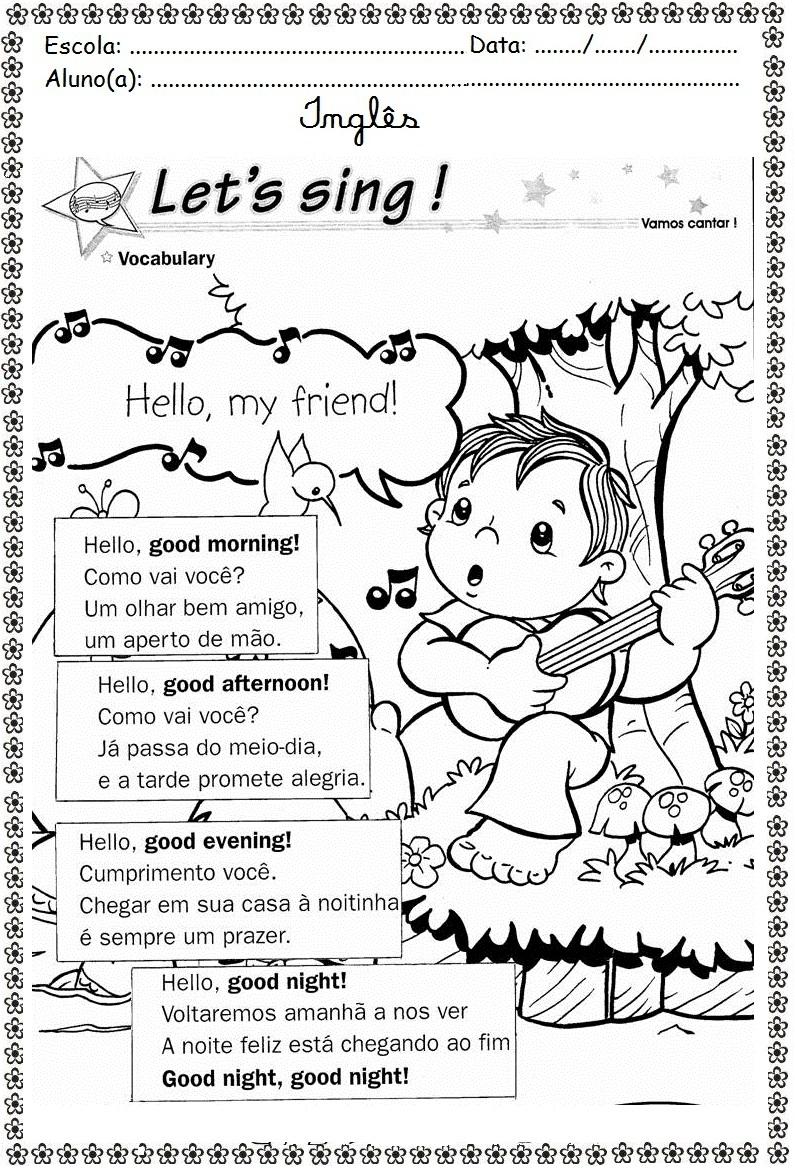 Preferência Blog Educacional (Profª. Jezaine): Inglês Saudações GI67