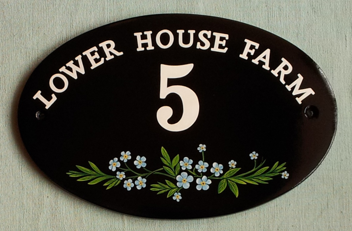 hand painted house signs by ceramic art house signs with. Black Bedroom Furniture Sets. Home Design Ideas