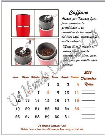 Comprar el calendario 2016 de Un Mundo Llamado Café
