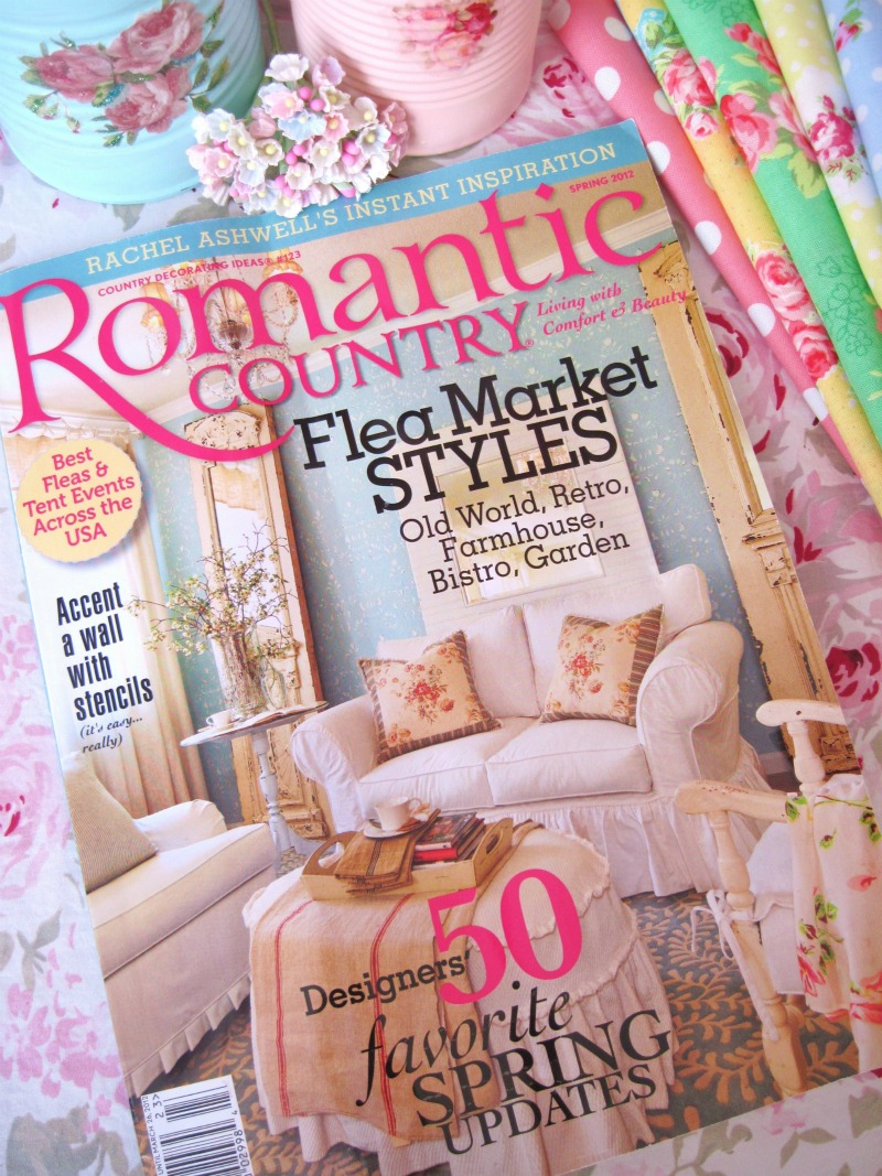 Sugar pink boutique my romantic country magazine has arrived for Spring cottage magazine