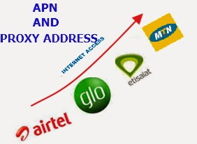 APN, Proxy Server Addresses and Dial Numbers