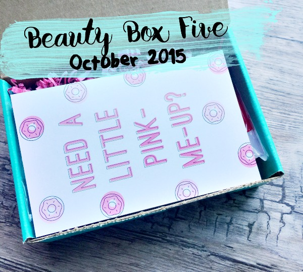 October Beauty Box Five