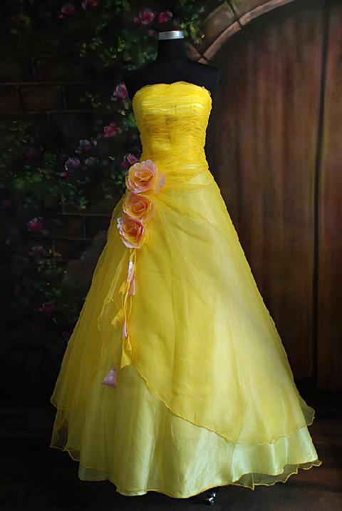 Yellow formal dress a creative life for Yellow dresses for wedding