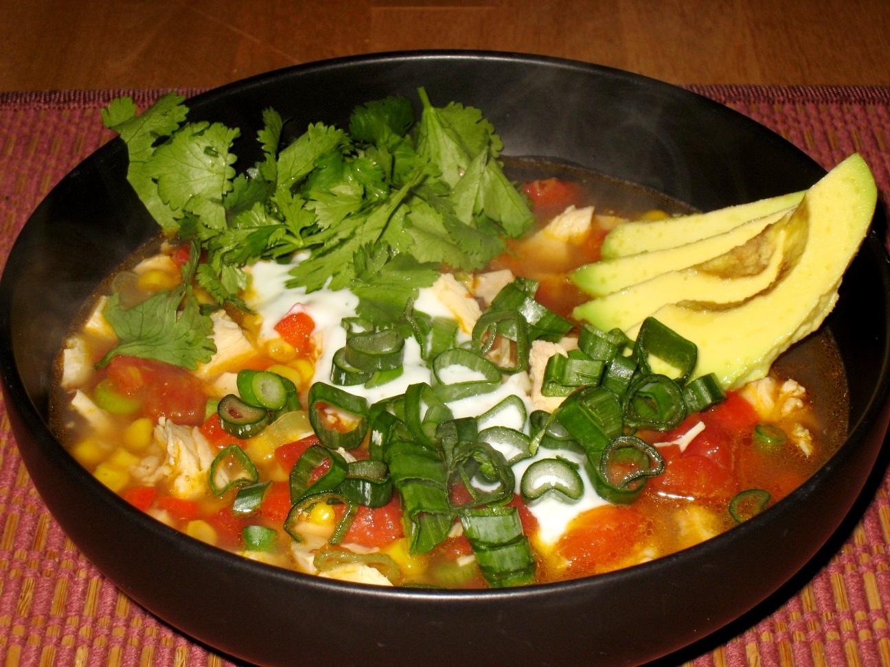 Global Grub: Chipotle Chicken Soup with Lime Crema