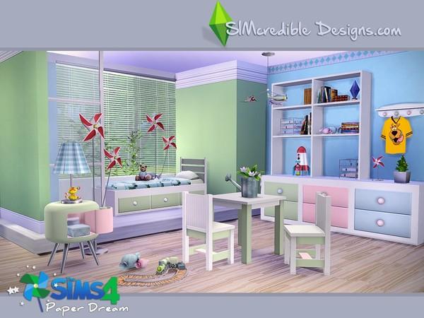 SIMcredible!u0027s Paper Dream Bedroom Set   TSR