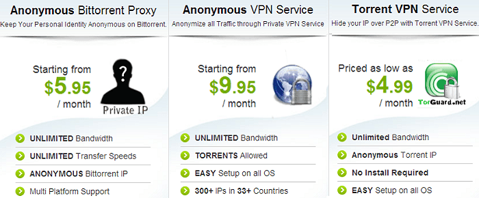 TorGuard VPN services