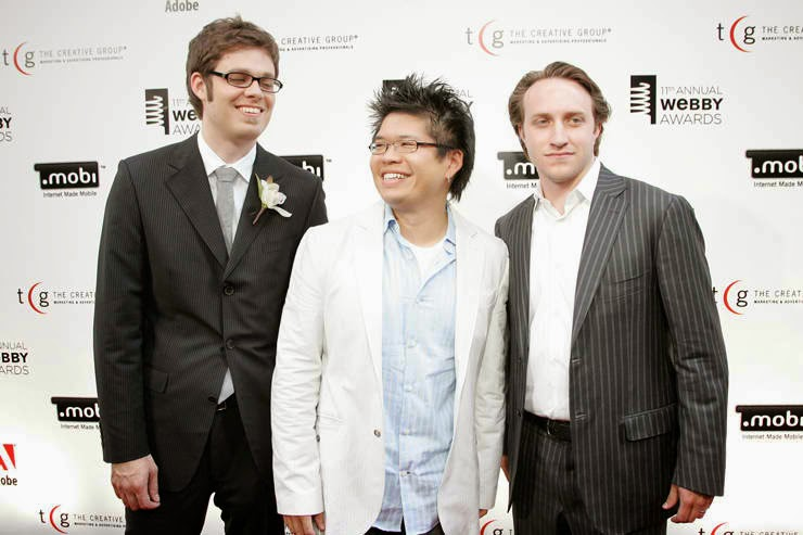 Chad Hurley, Steve Chen and Jawed Karim - Youtube founders