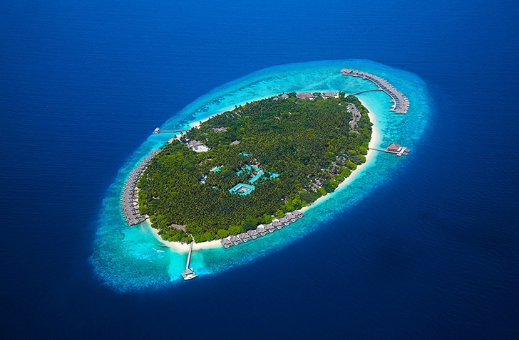 Island with Luxury Dusit Thani Resort in Maldives