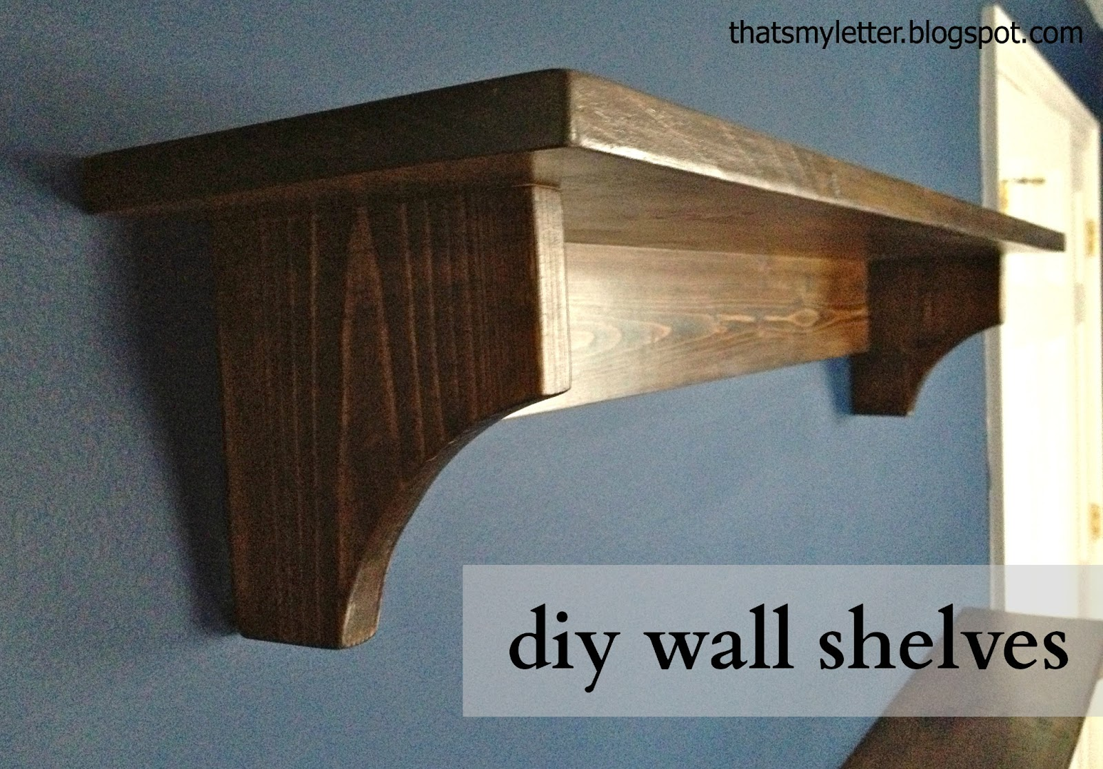 Simple wood shelves plans quick woodworking projects for How to make wall shelves easy