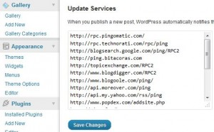 SEO WordPress - How To Ping Your Blog