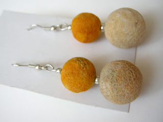 biżuteria z półfabrykatów - koral matowy (kolczyki)