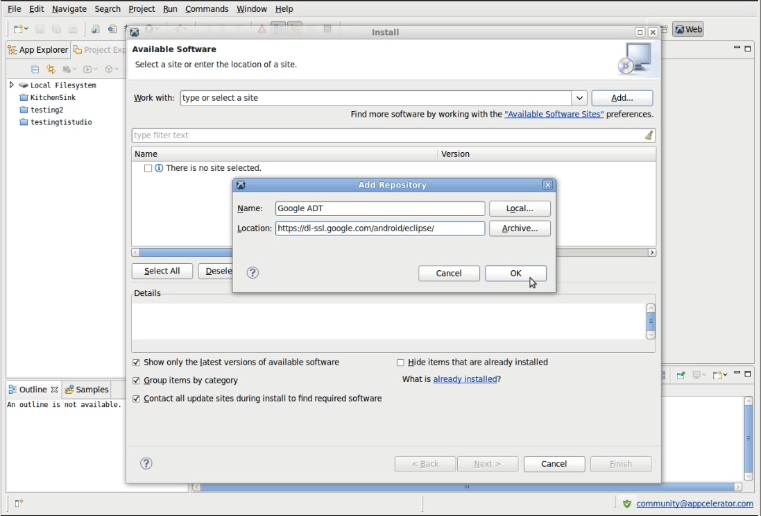 How to configure ADT Plugin for Eclipse