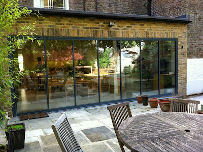 slide-and-turn retractable patio doors with ultra slim frames, 6m width opening approx