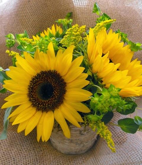 Rustic Sunflower Centerpiece Wedding Centerpieces
