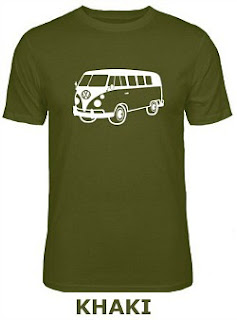 VW Campervan Khaki T-Shirt