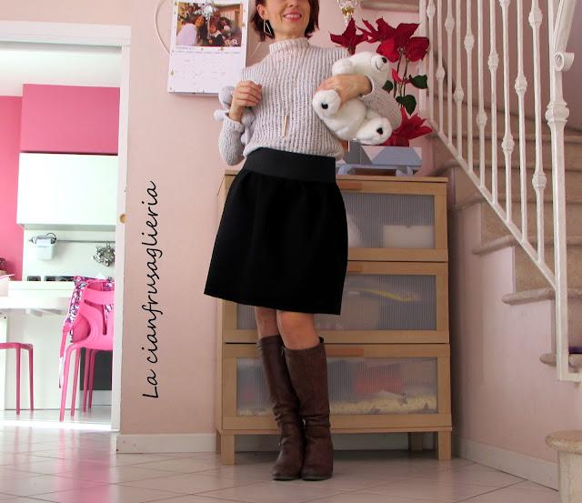 Bambine Bambini Bambini Plissettato School Uniform piena elastico in vita gon na ■