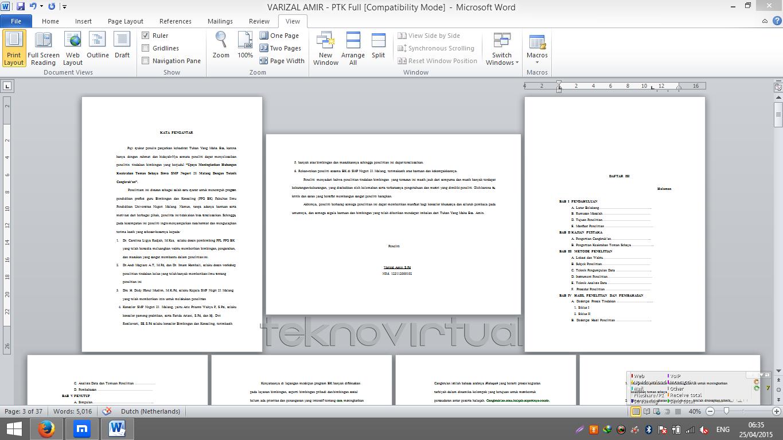 Cara Membuat Salah Satau Halaman atau Lebih Menjadi Landscape Pada Microsoft Office Word 5