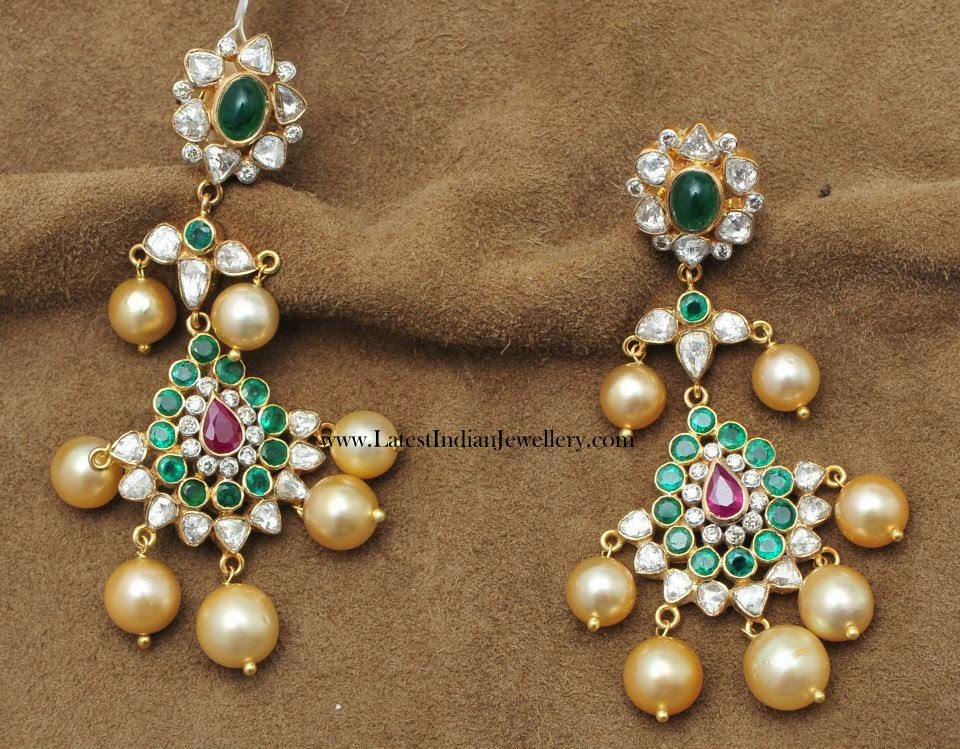 Gorgeous Gold Long Earrings