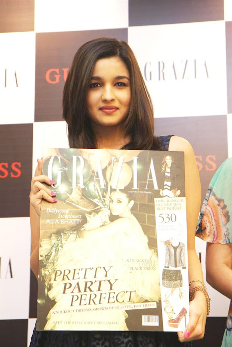 alia bhatt unveils grazia magazine party special issue. photo gallery