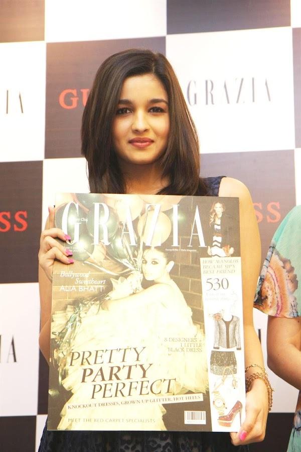 alia bhatt unveils grazia magazine party special issue. photo gallery