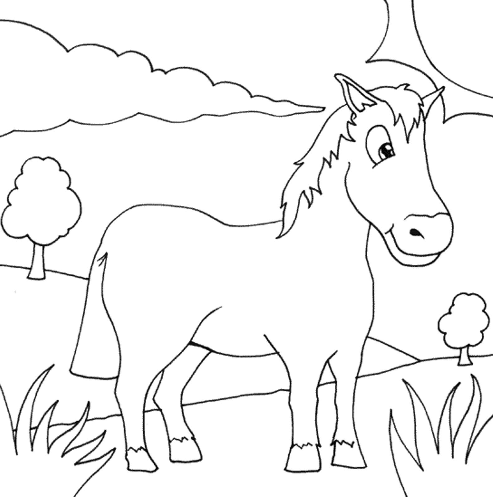 Belajar Mewarnai Hewan Kuda