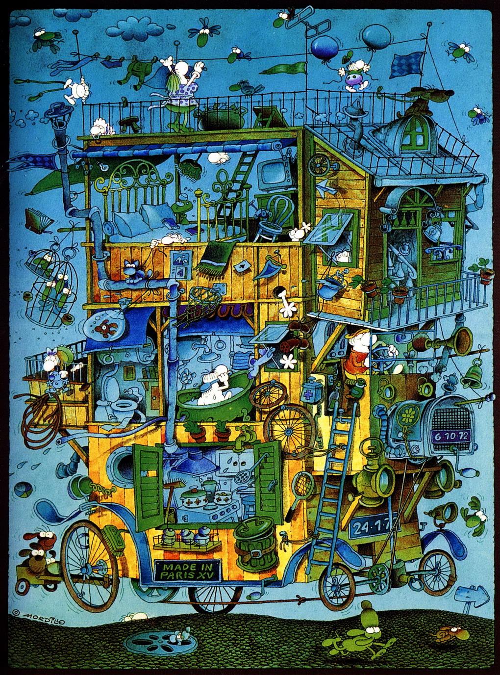 El humor del argentino Guillermo Mordillo Menéndez, más conocido como Mordillo – Multicolor.