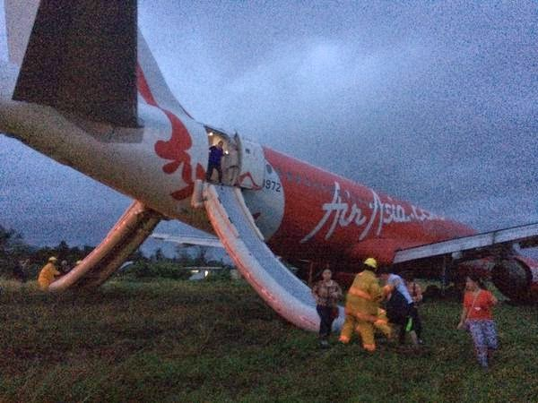 AirAsia Zest plane overshoots Kalibo International Airport runway